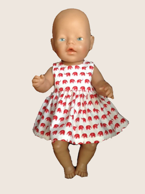 Vintage Elephants Dress Baby Born Or Cabbage Patch Dolls The