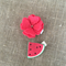 Set of 2, watermelon and blossom, red