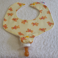 Pacifier Bib / Teether Bib / Binky Bib - Teddy Bears!