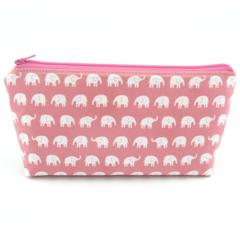 Baby Pink Elephants Cosmetic Bag, Zip Pouch, Makeup Bag