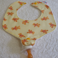 Pacifier Bib / Teether Bib / Binky Bib - Teddy Bears