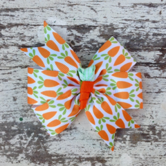 "3.5"" Easter Carrot Bow Hair Clip"
