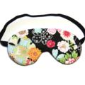 Oriental Flowers on Black Eye Mask Sleeping Mask