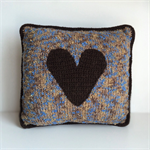 Decorative Cushion | Rustic | Loveheart | Lounge | Bedroom | Sofa | Hand Knitted