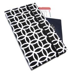 Black Geometric Travel Wallet / Family Travel Wallet / Travel Organiser