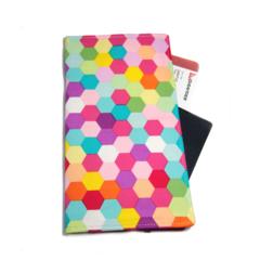 Bright Hexagon Travel Wallet / Family Travel Wallet / Travel Organiser