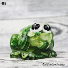Croaked - Mr Frog - Paperweight / Ornament - Solid Button Filled Resin