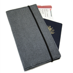 Simple Grey Mens Unisex Travel Wallet / Family Travel Wallet / Travel Organiser