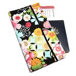 Black Oriental Flower Travel Wallet / Family Travel Wallet / Travel Organiser