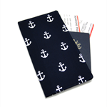 Navy Nautical Anchor Travel Wallet / Family Travel Wallet / Travel Organiser