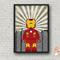IRON MAN SUPERHERO LEGO PRINT