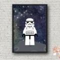 STORMTROOPER  * STAR WARS * LEGO print