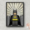 BATMAN SUPERHERO LEGO PRINT