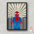 SPIDERMAN SUPERHERO LEGO PRINT