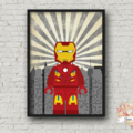 IRON MAN SUPERHERO LEGO PRINT