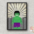 THE HULK SUPERHERO LEGO PRINT