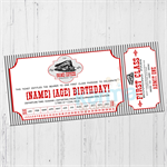 Vintage Train Ticket Birthday invitation DIGITAL DOWNLOAD
