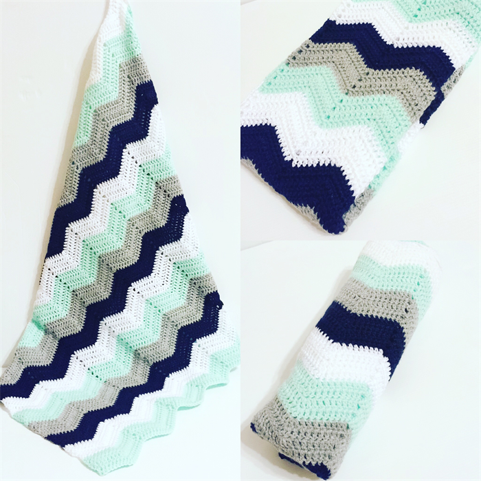 Baby Boys Chevron Blanket | Cuts with Kylie | madeit.com.au