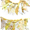 Vintage Bunting - Retro Sunshine YELLOW / Lemon 'Multi' Floral Flags.