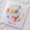 Wooden lasercut easter bunny rabbit pastel sweet card