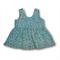 SIZE 1 Blue Floral Scoop back Peplum Top