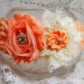 Shabby-Chic Flower Headband - Peach & Cream