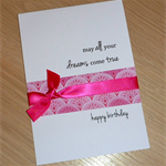 Female Happy Birthday card - may all your dreams come true