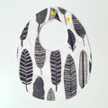 Charcoal grey feather boho inspired baby bib