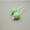 Sage Green and Sterling Silver Czech Glass Dangle Earrings