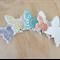 Butterfly wall art. Wall decor. Wall decoration. Baby room. Pastel butterflies