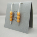Salted Caramel Sterling Silver and Czech Glass Earrings