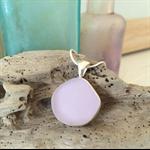 Purple Sea Glass Pendant