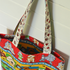 Mini Tote Bag - Puppy Paws & Dogs - Totally Reversible