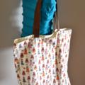 """Large Tote Bag - """"Bon Voyage"""" Fabric"""
