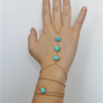 You're a Gem - Round Turquoise Bohemian Gold Wrap bracelet