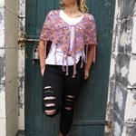Boho poncho-shawl