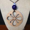 Laser Cut Flower Pendant Handcrafted from Tasmanian Oak