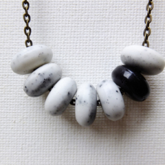 Natural stone beaded necklace.