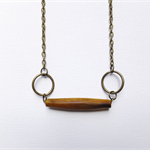 Minimal Natural Wooden Tube Necklace