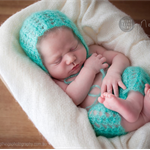 SALE Mohair Pants and Bonnet Set / Newborn Photography Prop / Unisex Baby Gift