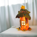 Felted Flower Lamp Fairy House Lamp Art