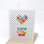 Love Card - Geometric Heart - HVD011