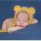 SALE Baby Bear Bonnet  / Newborn Photography / Mustard  / Cheeky Monkey Hat