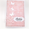 Birthday Card - Dusty Pink with Butterflies
