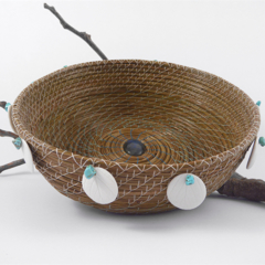 PERSONALISED Handwoven Pine Needle Spiritual Healing Basket (Medium Sculptural)