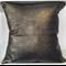 Metallic croc cushion cover