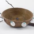 PERSONALISED Handwoven Pine Needle Spiritual Healing Basket (Medium Sculptural)