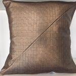 Metallic copper cushion cover