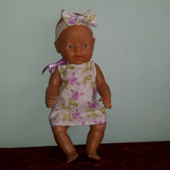 Dress and Headband to fit Baby Born Doll or similar 48cm dolls