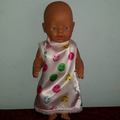 Dolls Satin Nightie fits 48cm dolls free standard postage